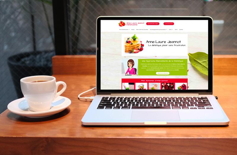 Mise en ligne du site d'Anne Laure Jeannot Diététicienne